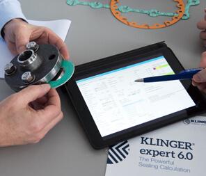KLINGER Expert gasket calculation tool in action