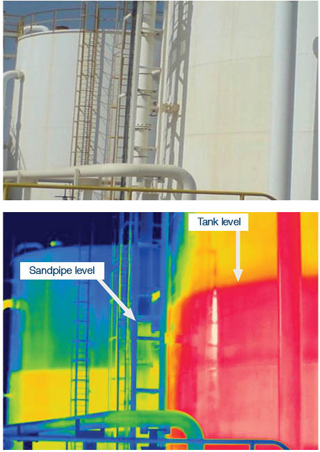 KLINGER Integrity Services Thermographic imaging example