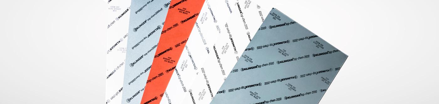 KLINGER PTFE gasket material range top image banner