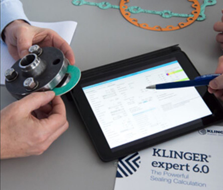 KLINGER Expert gasket calculation & selection software on ipad