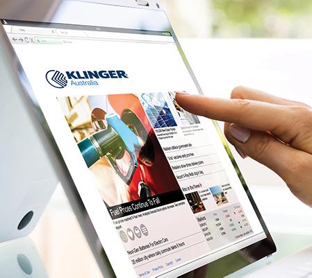 KLINGER Australia news page on ipad