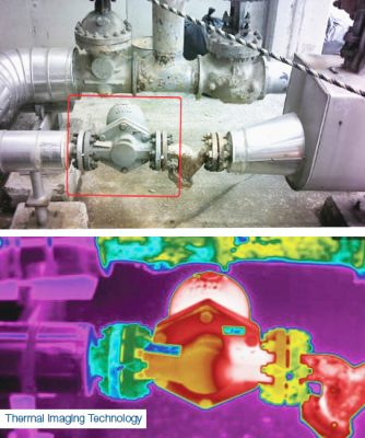 Steam trap survey thermal imaging technology example